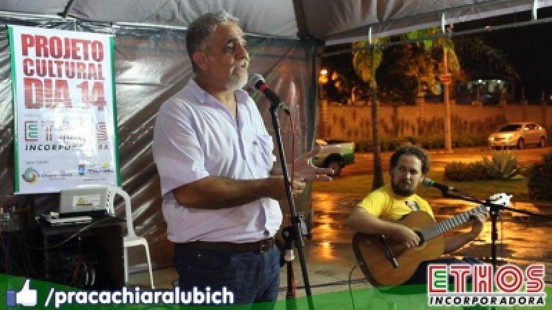 Saiba como foi o recital na Praça Chiara Lubich